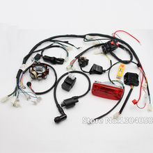 COMPLETE ELECTRICS 4 Stroke ATV QUAD 150 200 250 300CC WIRING HARNESS CDI 8 Coil Stator Tail Light Zongshen Lifan new