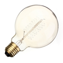 Buy G95 60W Vintage Edison Bulb E27 Retro Incandescent Light Tungsten Filament Home Decor Lamp Lights Warm White Lighting 110V 220V for $4.24 in AliExpress store
