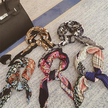 New Women Wrinkle Small Square Scarf Satin Triangular Silk Scarf Fashion Accessories Women Winter Scarves Neck Lace Silk QR418