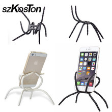 Spider Cell Phone Holder For Iphone 6 6s 7 Plus 5 5s 4s Stent For Samsung Xiaomi Huawei One Plus Oppo Vivo Bicycle Holder Stand(China)