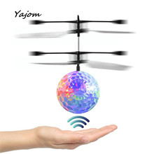 RC Toy EpochAir RC Flying Ball RC Drone Helicopter Ball Built-in Disco Music With Shinning LED Lighting for Kids Dec13 May 18(China)