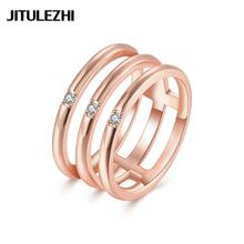 Yellow/rose/ gold color rings Fashion jewelry anel feminino Super Offer Luxurious Factory price lose money for gift