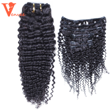 3 Human Hair Bundles Mongolian Kinky Curly Virgin Hair 3 Pcs 1 Pack 100% Human Hair Extension Pre-Color Venvee Hair(China)