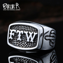 BEIER New Store FTW Punk Mechanical Screw Mens Motor Biker Exquisite Ring Stainless Stee Motorcycle Ring Dropshipping BR8-420