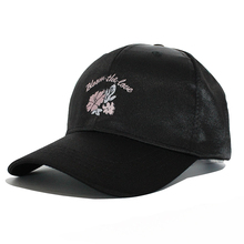 Brand Baseball Cap For Women Spring Summer Suede Cap Satin Pink Casual Dad Hat Snapback Cap Flower Letter Embroidery Female
