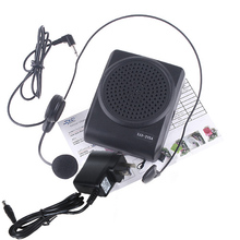 Mini 8 Multi Voice Amplifier Megaphone Booster with Wired Microphone Loudspeaker Mini Speaker for Teacher Tour Guide Promotion