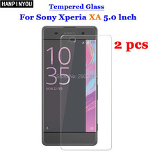 2 Pcs/Lot For Sony XA Tempered Glass 9H 2.5D Premium Screen Protector Film For Sony Xperia XA / XA Dual F3112 F3113 F3115 5.0""