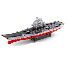 Aircraft Carrier Ship Military Army Model Building Blocks Compatible with Legoelie Playmobil Educational Toys for Children B0388