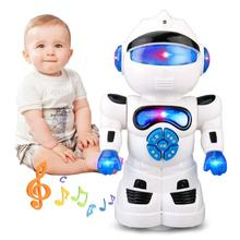 Electric Smart Robot Speaking English Intelligence Robot Toy with Music Plastic Early Robot for Children Kids Birthday Gift(China)