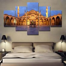 Canvas HD Prints Painting Home Decor Living Room Wall Art 5 Piece Sultan Ahmed Mosque Poster