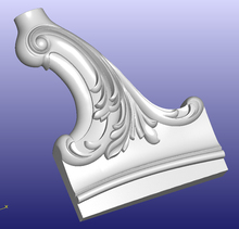 3D STL model for CNC Router mill relief carving furniture design sofa bed part pattern  310