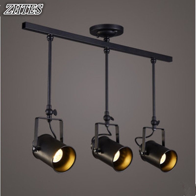 LED Spotlights American Industrial Corridor Bar Clothing Store Aisle Chandelier Lights Hall Cob Track Light<br>