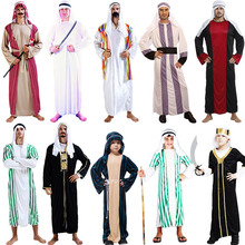 arab clothing kids chileren boys greek goddess Cosplay Princess Costumes Arabic Prince Fancy Dress Party Halloween Women Men