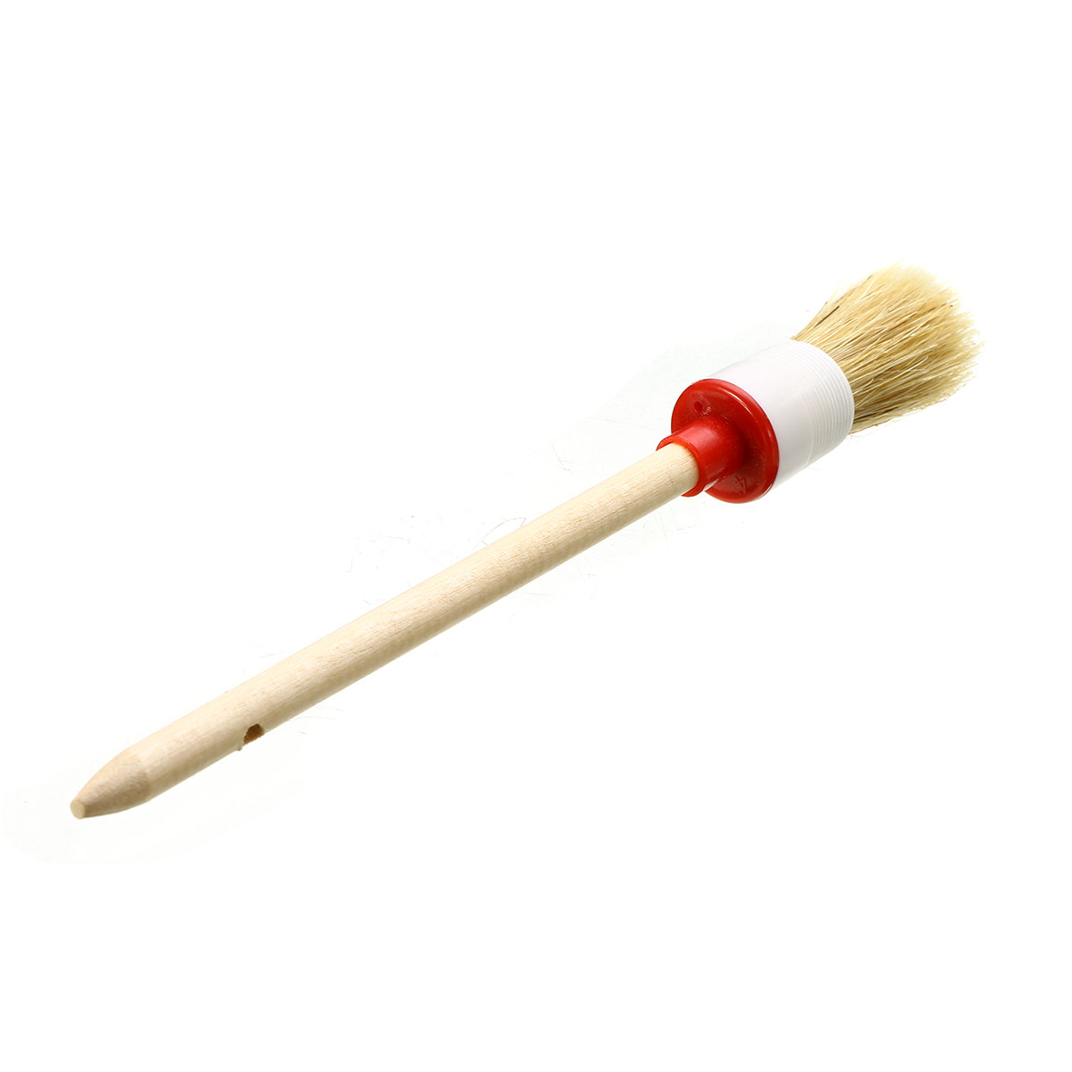 Mayitr Wooden Handle Round Bristle Chalk Oil Paint Painting Wax Brush Household Cleaning Tools Brushes
