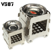 Stainless Steel Outdoor Stove Lightweight Folding Wood Stove Alcohol Stove Outdoor For Cooking Backpacking Camping