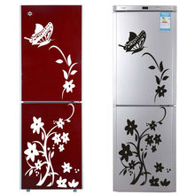 black or white vine flower stickers zooyoo8308 fridge non-toxic wall decals vinyl wall art 3d wall mural art home decor