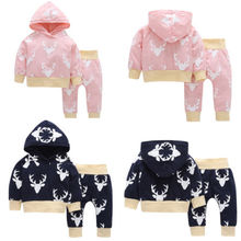 Buy Newborn Infant Baby Girl Clothes Hoodie Tops Deer Pants Leggings 2Pcs Outfits Toddler Girls Boy Lovely Hooded Warm Clothing Set for $5.52 in AliExpress store