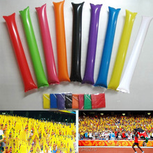 10 pairs/lot Game activities cheer supplies PE balloon Sing competition air inflatable pong bong stick Good quality 9 colors(China)