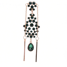 Ethnic Accessories Indian Princess Style Hair Clip Forehead Eyebrows Classic Green Imitation Rhinestone Chain Headband Hairpin