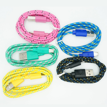 1M 2M long Quality Braided Wire Micro USB Data Cable For Samsung S3 S4 S6 for Sony Android Phone Sync Nylon Woven Charger Cords