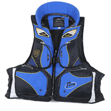 Rock Fishing Life Jacket Professional Life Vest For Drifting Boating Survival Fishing Ajustable Jacket Water Sport Survival Suit