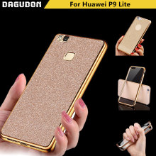 Huawei p9 lite case Bling huawei p9 lite 2016 cover Gilded TPU Soft Silicone Phone case fundas thin glitter Cover accessories