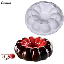 SHENHONG Amazing Pumpkin Cake Mold Baking Dessert Diamond Pastry Mousse Silicone Mould Art Chocolate Pan Silikonowe Moule Sponge(China)