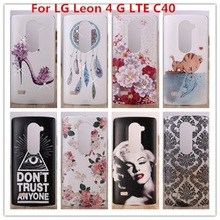 For LG Leon Case /Luxury Crystal Diamond 3D Bling Hard Plastic Cover Case For LG Leon 4 G LTE C40 C50 H340N H320 Cell Phone Case