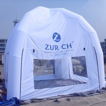 2016 New Style Gemmy white Square Inflatable Tent with dome roof for Party,event,advertisements(China)
