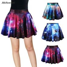 Buy Ball Gown High Waist Skirt 3d Printed Starry Sky Pattern Funny A-Line Mini Skirt Female Harajuku Jupe Tulle Femme Sexy Skirts for $8.34 in AliExpress store