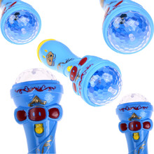 Creative Microphone Singing Funny Gift Music Toy Flash Light Up Toys Kids Luminous Toys(China)