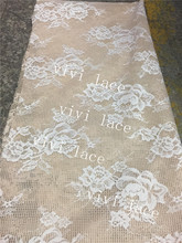 10 yards mm0012 beige apricot  bonded net hard mesh 2 layers french lace best quality good shape lace  for  sawing dress/wedding