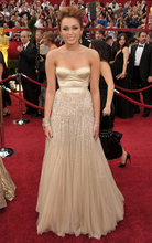 Miley Cyrus Annual Academy Awards Sweetheart Sequins Beaded Accented Tulle A Line Red Carpet Celebrity Dresses