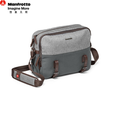 Manfrotto LF-WN-RP Camera Messenger Bags Genuine Leather Nylon Camera Bag Multi Funtional Photography Carry Bag Reporter SLR Bag