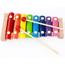 Wooden children's educational toys knock piano octave knock early childhood musical instruments