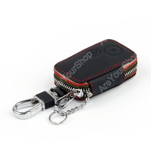 Sale For Honda Odyssey 2009-2013 CR-V 2012-2013 Leather Key Cover Case Bag Holder Ring Chain Fob Protector