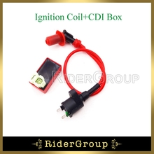Red GY6 Racing Ignition Coil 6 Pins AC CDI Box For Chinese 50cc 125cc 150cc Moped Scooter ATV Quad Go Kart(China)