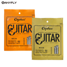 New Orphee Classic Classical Guitar Strings Nylon and Silver Plated Wire Hard/Normal Tension 028-043/028-045 Wholesales(China)
