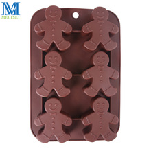 Gingerbread Man Silicone Oven Mold Microwave Chocolate Mold Christmas Soap Mold(China)