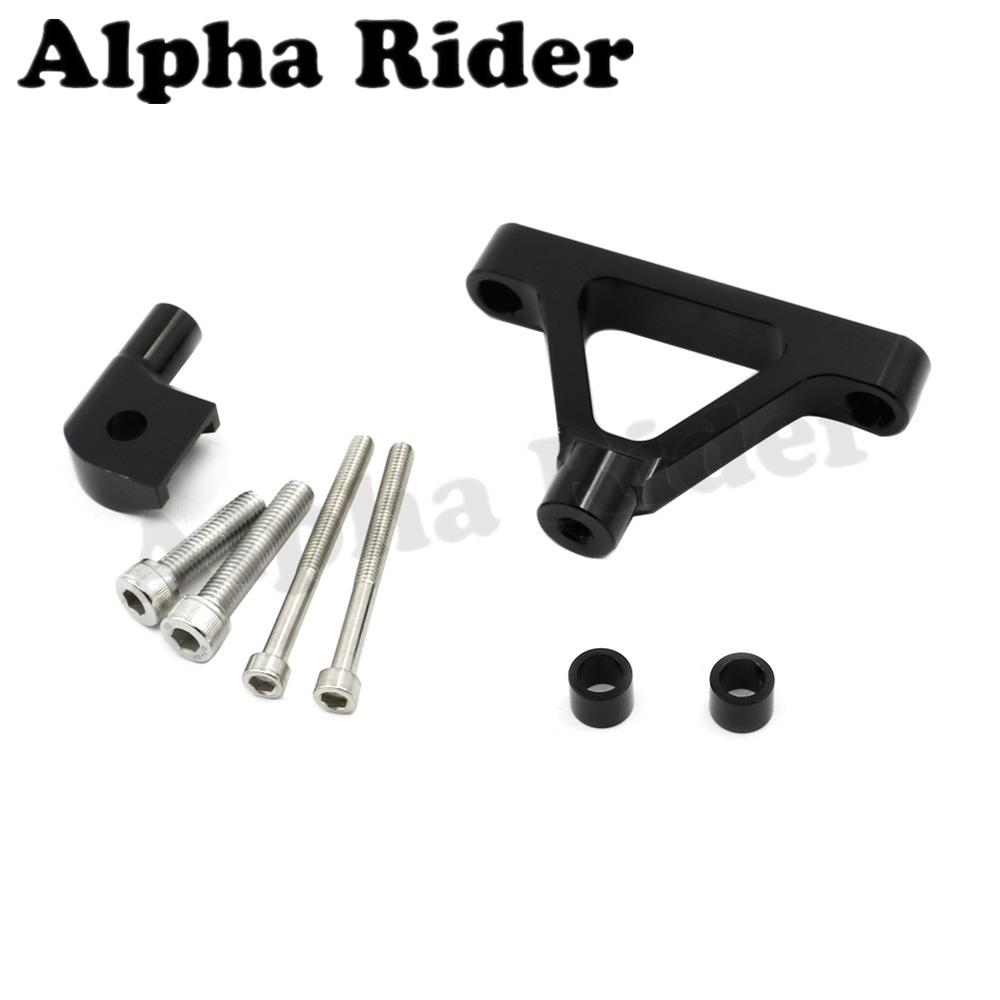 Black CNC Aluminum Direction Steering Damper Stabilizer Support Holder Bracket w/ Mounting Kit for Kawasaki Ninja ZX6R 2007-2008<br><br>Aliexpress