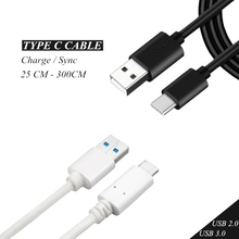 USB Type C Cable USB-C 3.1 Quick Charging Cabel Type-C Fast Charge Charger Data Sync Cord Long Short 0.25M 0.5M 1M 1.5M 2M 3M