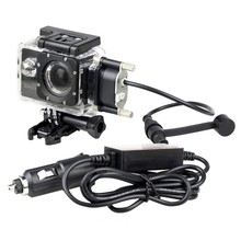 Sports DV Accessories Waterproof Case for SJCAM SJ4000 SJ4000 WiFi SJ4000 Plus with car charger for Motorcycle