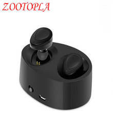 K2 Pods mini Double Ear bluetooth Headsets Earbuds wireless Headphones Self-contained charging compartment For iphone xiaomi(China)