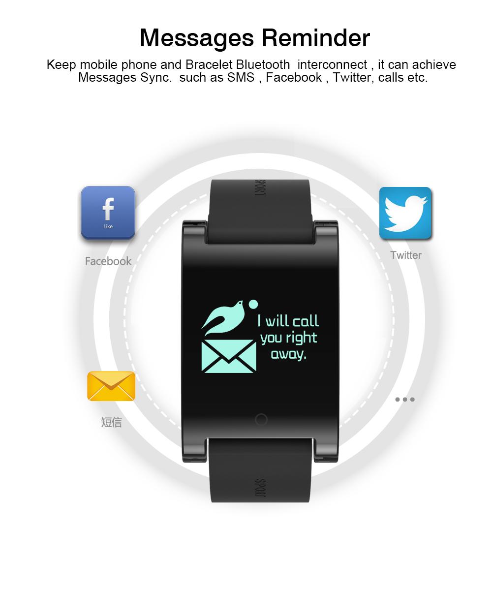FREZEN Smart Bracelet DM68 Smart Band Fitness Sleep Activity Tracker Blood Pressure Oxygen Heart Rate Tracker For Android IOS 12