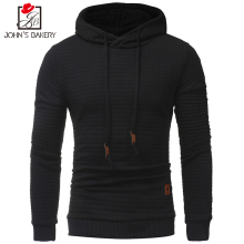 2017 New Fashion Hoodies Brand Men Lattice Sweatshirt Male Men'S Sportswear Hoody Hip Hop Shrink Autumn Winter Hoodie(China)