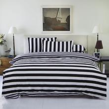 2016 New Drop Ship Bedding Set Twin/Full/Queen Size Duvet Cover Set Classic Black and White Bed Sheet Sets Home Textile
