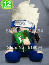 "Free Shipping Japanese Anime Cartoon Naruto Hatake Kakashi Plush Toy Plush Doll Figure Toy 12"" 30cm(China)"