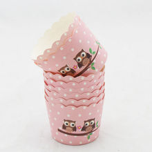 Cartoon Flower Animal baking cup cupcake paper muffin cases cupcake liner Cake box Cup tray cake mold decorating tools 50pcs(China)