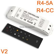 LTECH V2 LED Wireless Remote Color Temperature Controller for R4-3A R4-5A R4-CC Receiver for Dual White CT LED Strip/Panle Light
