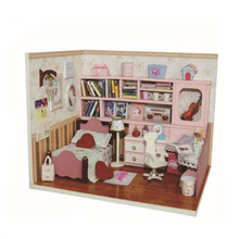 Miniature Wooden Doll Houses DIY Dollhouse Kits Handmade Toys for Children Gifts,Miniatura House with Furniture LED Lights